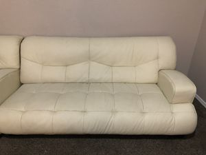 white leather couch set WOW $50 for Sale in Las Vegas, NV