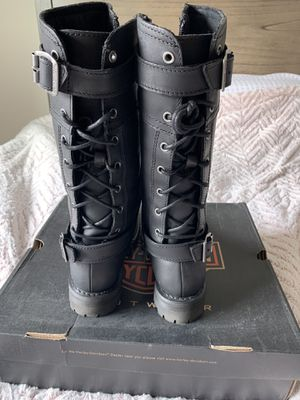 Harley Davidson Black Alexa boots Size 8.5 for Sale in Glendora, CA