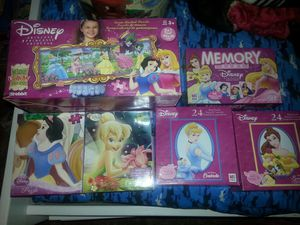 Disney princess puzzles and memory game for Sale in Los Angeles, CA