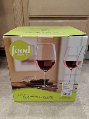 NEW Food Network Red Wine Glasses for Sale in Poway, CA