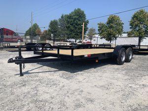 7x18 Car Hauler trailer 7,000lb capacity 1 Brake for Sale in Hiram, GA