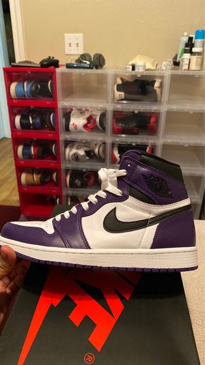 Air Jordan 1 Retro High OG Court Purple Size 9 for Sale in San Marcos, TX