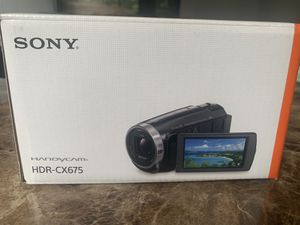 "CAMERA BUNDLE - Sony Handycam HDR-CX675 Digital Camcorder - 3"" - Touchscreen LCD for Sale in Agawam, MA"
