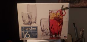 anchor 16 peice glass set for Sale in Irving, TX