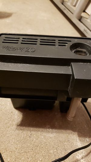 Aquarium Whisper 20 Power Filter for Sale in Rolling Meadows, IL