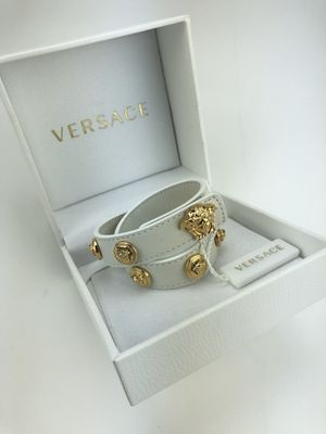 Versace white leather bracelet for Sale in Cathedral City, CA