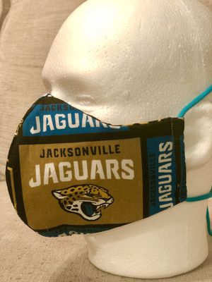 Handmade Masks NFL . Jacksonville Jaguars. 100% Cotton. Reusable. 3M Filter. 5 Layers. for Sale in Orlando, FL