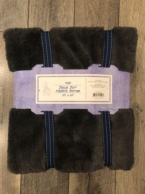 Faux Rabbit Fur Blanket for Sale in Riverdale, NJ