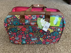 "Lily Bloom 20"" wheeled duffel bag tote luggage new playful garden cat floral print new for Sale in Valley Center, CA"