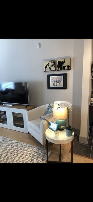 Media Console/ TV Stand with shelves for Sale in Houston, TX