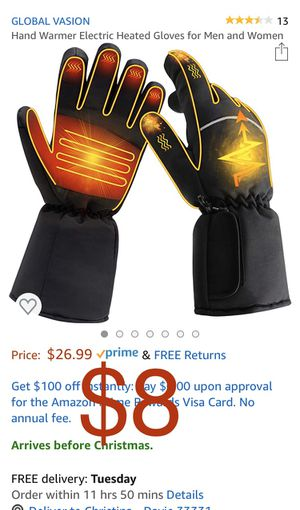 Brand new Hand Warmer Electric Heated Gloves for Men and Women for Sale in Davie, FL
