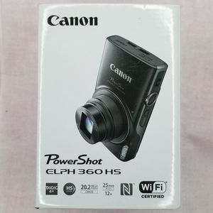 Canon PowerShot ELPH 360 HS 20.2MPX Wi-Fi Digital Camera - Silver for Sale in La Feria, TX