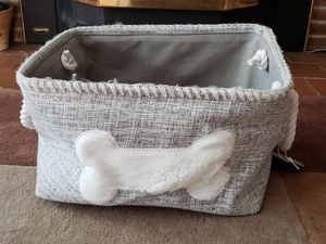 Dog fabric toy box for Sale in Lakewood, WA
