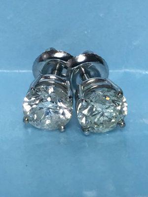 2.04 carats of diamond stud earrings for Sale in Austin, TX