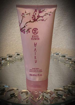 AVON KYOTO FLOWER HAIKU Perfumed Body Lotion LUXURY FULL SIZE 6.7 fl oz/200ml for Sale in San Diego, CA