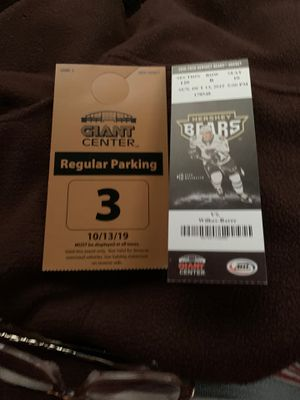 4 CENTER ICE HERSHEY BEARS TICKETS, SUNDAY 10/13 for Sale in Mount Joy, PA