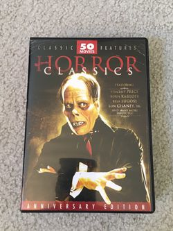 Horror Classics DVDs 12 Disc Set 50 Movies for Sale in Issaquah,  WA