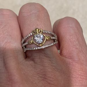 New CZ gold Filled/silver Wedding Ring Size 6 for Sale in Palatine, IL