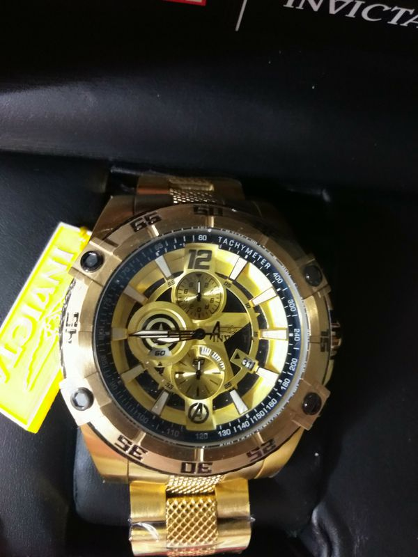 Invicta gold watch