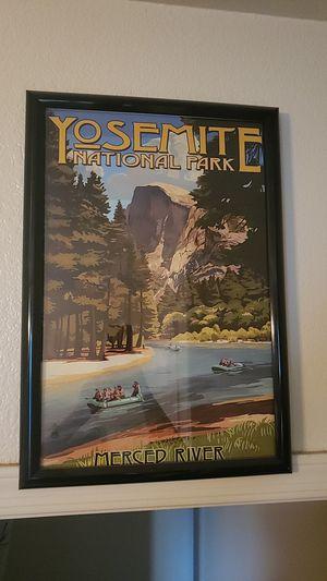 Merced River Framed Poster for Sale in Phoenix, AZ