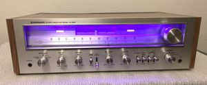 Pioneer SX-650 Receiver. New pink LED Lights and has been serviced. for Sale in Fullerton, CA