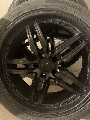 "Zink black rims 19"" 114. 18 for Sale in Orlando, FL"