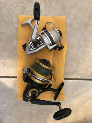2 Penn spinning fishing reels & 3 brand new Shimano reels for Sale in Peoria, AZ