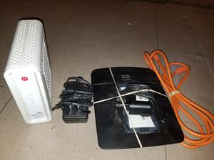 ARRIS Cable Modem Linksys Router Combo for Sale in Phoenix, AZ