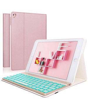 iPad Keyboard Case for iPad 6th Generation - iPad 5th Gen (9.7 inch) - iPad Air 2&1 - iPad Pro 9.7-7 Colors Backlit Detachable Keyboard - PU Leather for Sale in Alta Loma, CA
