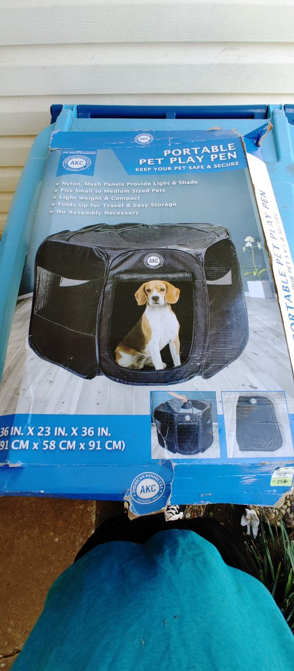 Dog play pen kennel