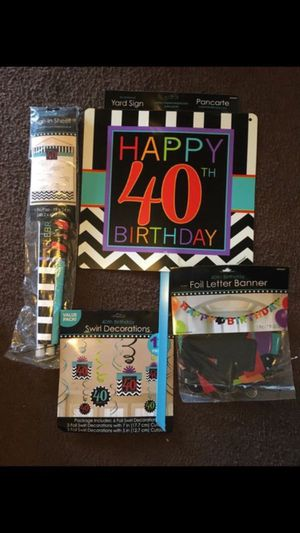40th Birthday decorations for Sale in Los Angeles, CA