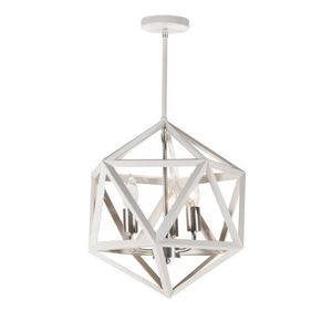 White metal geometric chandelier for Sale in Los Angeles, CA
