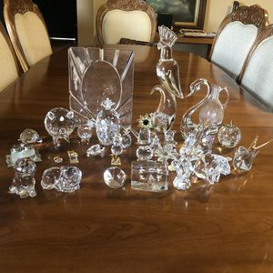 Collection of glass and crystal figurines decor collectibles vintage boho wedding baby shower gifts for Sale in Phoenix, AZ