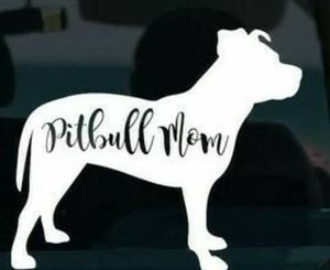 Pitbull mom decal sticker for Sale in York, PA