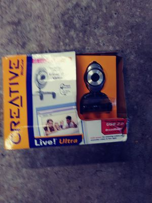 NEW Creative WebCam Live Ultra with Headset VF0060 USB 2.0 1.3 Mega Pixel for Sale in Temple Terrace, FL