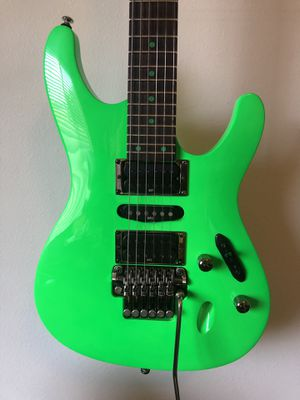 Ibanez S1XXV Fluorescent Green Electric Guitar 25th Anniversary Limite for Sale in Spring, TX