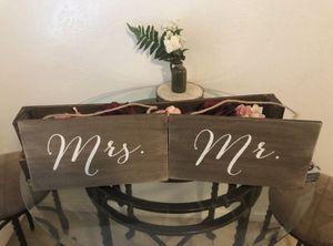 Mr & Mrs wooden signs for Sale in Phoenix, AZ