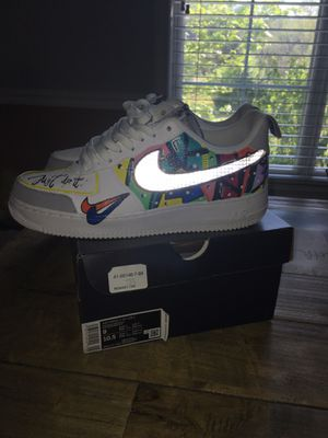 Air Force 1 '07 LV8 2 White Wolf grey-black (custom) for Sale in Powder Springs, GA