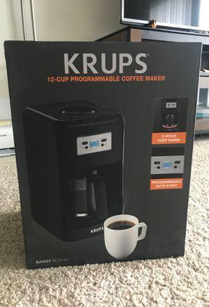 KRUPS 12-cup programmable coffee maker for Sale in Belleville, MI