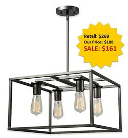 Cubed 4-Light Graphite Chandelier by Kenroy Home NEW for Sale in Fort Lauderdale,  FL