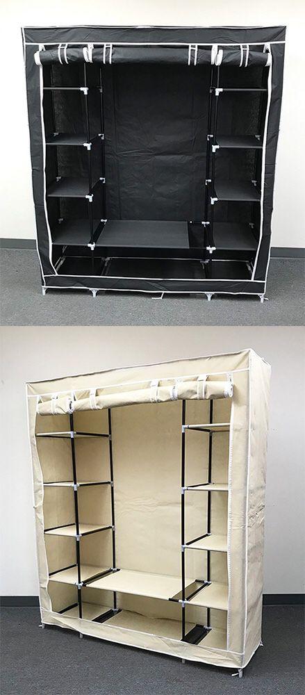 "New $35 each Fabric Wardrobe Closet Storage Clothes Organizer 60x17x68"" (3 Colors)"