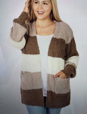Brown Popcorn Cardigan 3x for Sale in Clay Township, MI