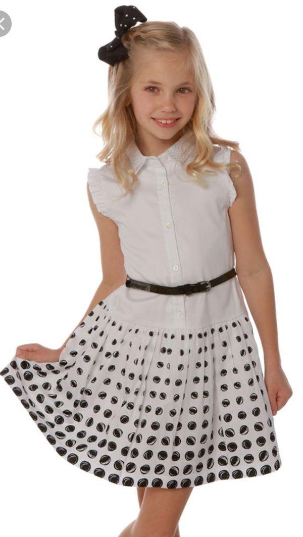 NWT Little Girl's Black & White Dress