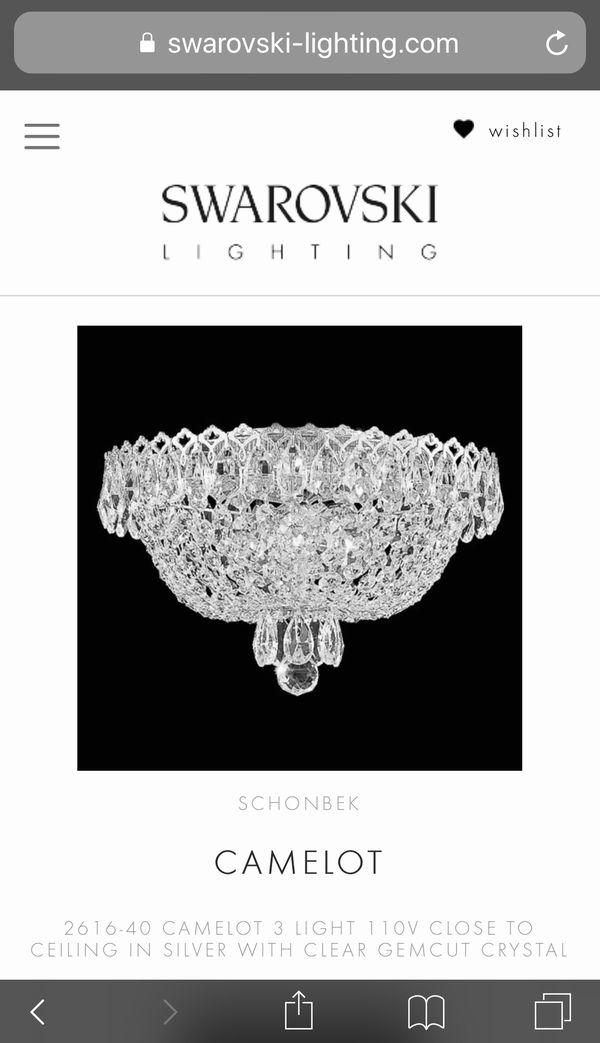 "Swarovski Crystal Chandelier Lighting Schonbek Camelot 2616-40 (11"" W x 7"" H)"
