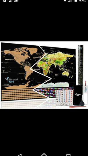 Large Scratch Off World Map.Large Scratch Off Map Of The World For Sale In Fresno Ca Offerup