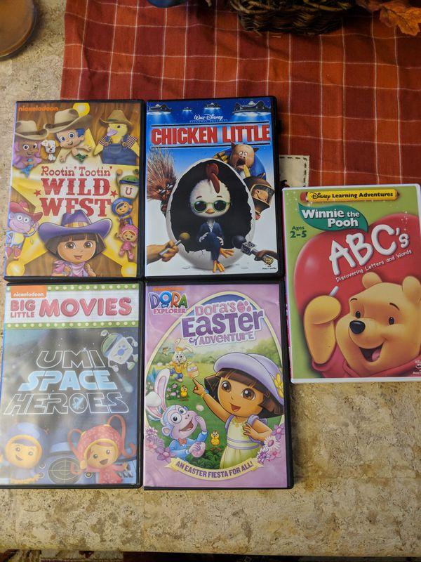 5 children's dvds