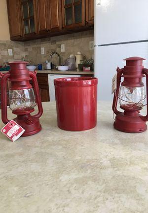 2 lanterns 1 Big spoons holder for Sale in Burke, VA