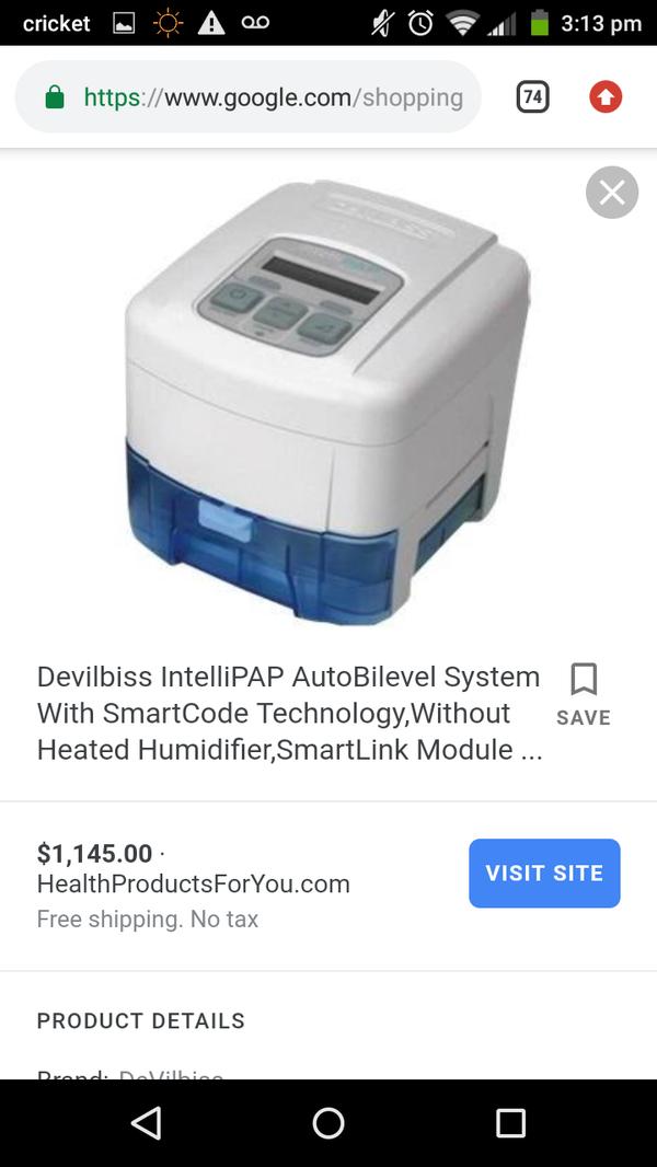 """Devilbiss intellipap"" *standard plus* CPAP/APAP for sale/trade"