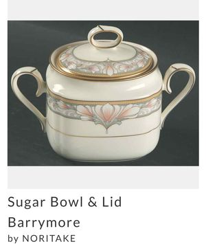 Noritake Barrymore Bone China Sugar Bowl with Lid for Sale in Riviera Beach, FL