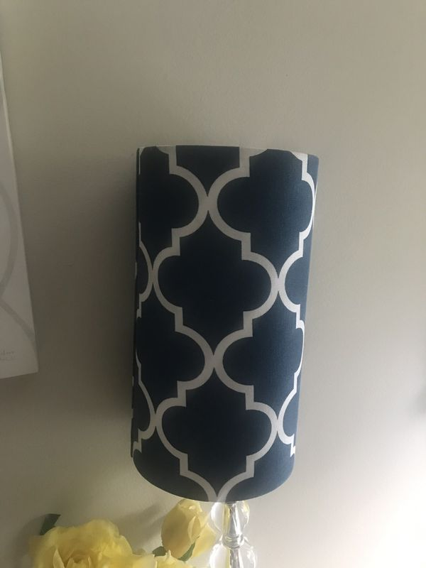 Moroccan print lamp shade. Y'all cylinder shape